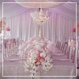 Flowers and candlelit - a collection of wedding tables and decoration ideas for your reception.
