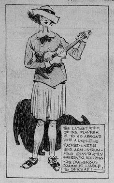 Ukulele Black And White Cartoon