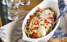 Spicy, Cheesy Bouyiourdi - Greece Is Pickled Banana Peppers, Stuffed Banana Peppers, Side Recipes, Greek Recipes, Greek Cooking, Feta, Macaroni And Cheese, Food To Make, Spicy