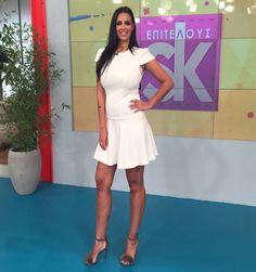 SANTE heeled sandal detailed with eco fur. 18th, Dress Up, White Dress, Fur, Sandals, Elegant, Celebrities, Grey, Heels