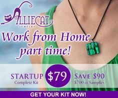 Alliecat Jewelry is as unique and as special as you are! www.alliecatjewelry.com I have one of their beautiful glass hand-crafted peices and love it! I always get compliments whenever I where it! www.DebBixler.com/home-business-training.html