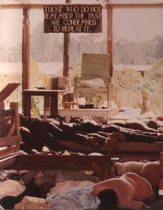 ramirezbundydahmer:    Inside the People's Temple in Jonestown, Guyana. The bodies of followers that drank the cyanide-laced drink are strewn around the commune. More than 900 Americans died in a murder and suicide ritual at the Peoples Temple agricultural mission in the jungle of Guyana.