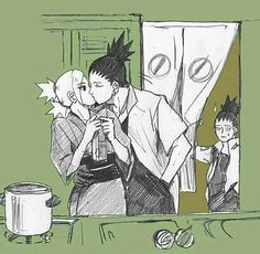 Well ,Shikadai just want some food but ...