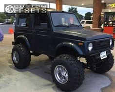 36920 1 1986 samurai suzuki suspension lift 6 weld typhoon polished flush.jpg 15x14 wheels 4 inch back spacing awesome