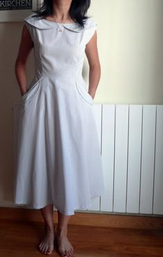 Vintage style dress - I can see this on me in an apple green...