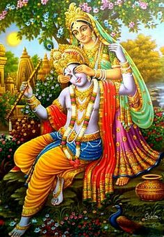 When Sri Radharani smiles, waves of joy overtake Her cheeks, and Her arched…