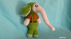 Elephant amigurumi crochet