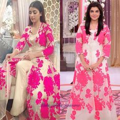 WEBSTA @ paki_celebs_universe - #UrwaHocane and #NidaYasir spotted wearing same #Sanasafinaz dress ! Who's looking pretty ???