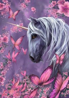 In my opinion, there are only few good unicorn illustrations. People seem to think little girls don't see the weakness in anatomy and face of the mystic creatures. Unicorn Painting, Unicorn Drawing, Unicorn Art, Fantasy Kunst, Fantasy Art, Fantasy Creatures, Mythical Creatures, Unicornios Wallpaper, Unicorn Pictures