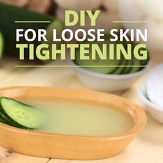 DIY for Loose Skin Tightening. Spread some under the eyes, the chin, and cheeks and repeat regularly for results. Who says you have to spend $100 at a department store for chemical-laden creams?  #diyskincare