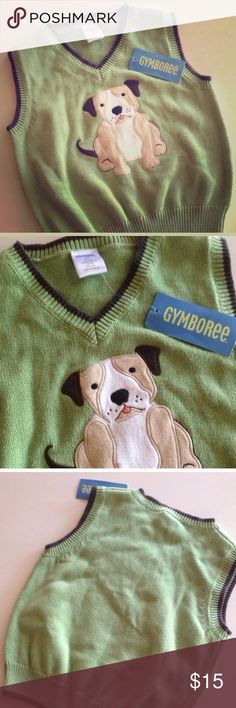 ❤️Gymboree❤️ adorable green dog sweater vest from Gymboree. NWT! so cute! Gymboree Shirts & Tops