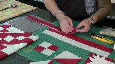Missouri Star Quilt. Make a Jacob's Ladder Quilt, 1 block is comprised of:  5 four patches and 4 half square triangles.