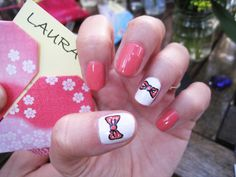 coral and bows.