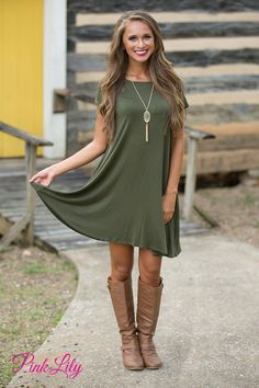 This simple and versatile dress is such a year-round essential! The soft material is perfect for any season - you can add a jacket and leggings for fall or wear with sandals for a summer look!