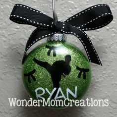 Karate Personalized Ornament Martial Arts by WonderMomCreations