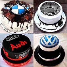 Choose your favorite cake. Audi Torte, Bmw Cake, Bmw M Power, Birthday Cakes For Men, Cake Designs, Supercars, Volkswagen, Cake Recipes, Cake Decorating