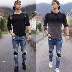 Likes, 9 Comments - ModaMasculina Stylish Mens Outfits, Hipster Outfits, Boy Fashion, Mens Fashion, Mens Clothing Styles, Sexy Men, Men Casual, Menswear, Image