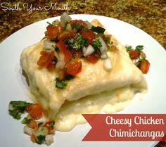 Cheesy Chicken Chimichangas