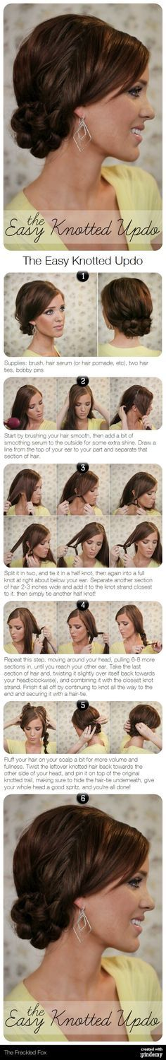 The Easy Knotted Updo Hair Tutorial | best stuff