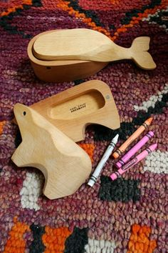 Wooden animal boxes.