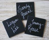 Chalkboard squares