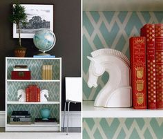 36 Brilliant Ways to Beautify Boring Bookshelves | Brit + Co