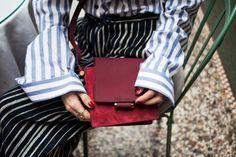 Bordeaux | Red | Leather | Crossbody Bag | Modern | Minimalist
