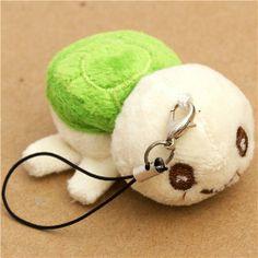 green turtle plush cellphone charm Japan kawaii