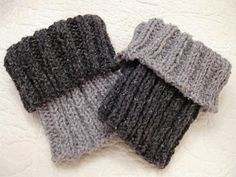 Two Toned Boot Cuffs, free pattern.