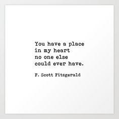 True Quotes, Words Quotes, Qoutes, Art Prints Quotes, Quote Art, Scott Fitzgerald Quotes, Verbatim, Quotes To Live By, Love Quotes For Him