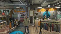 Grand Theft Auto V PS4 Franklin Clinton Suburbia Peacoat, Olive