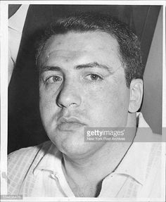 """1959 pic of fearsome Colombo capo Dominick """"Mimi"""" Scialo. He was acting capo of Sonny Franzese's crew when Sonny was locked up, before becoming a capo himself. Mimi was murdered in 1974 by his own family. Alleged motives were him adding new guys to his crew but refusing to reveal their identities, him seeing a shrink and Persico fearing Mimi might be a threat to his power. Gangster Films, Mafia Gangster, Colombo Crime Family, Mafia Crime, Mafia Families, Life Of Crime, Mobb, Al Capone, Thug Life"""