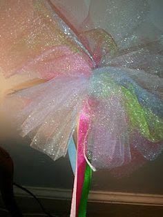 Easy Tulle Fairy Wand Tutorial