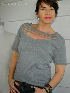 Necklace T-Shirt DIY by Wobisobi