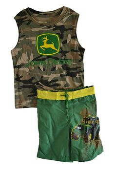 John Deere Toddler Camo Sleeveless T-Shirt and shorts John Deere Kids, John Deere Baby, T Shirt And Shorts, Kids Hats, Kid Styles, Little Man, Camo, Onesies, Boots