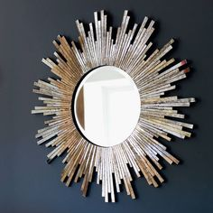 Ive Just Found Large Burnished Sunburst Mirror A Gorgeous
