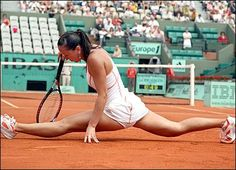 Acrobatic Tennis... very impressive... that might pull a muscle though...