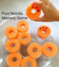 Pool Noodle Memory Preschool Game