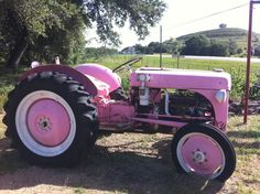 Take you on a ride on my big pink tractor. Pink Tractor, International Tractors, Old Tractors, Old Farm, Everything Pink, Pretty In Pink, Wheels, Inspirational, Country