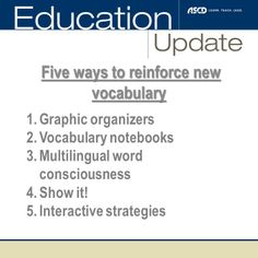 Learn how to build vocabulary and concepts brick by brick with this ASCD Express