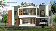 House Balcony Design, Single Floor House Design, Two Story House Design, House With Balcony, Kerala House Design, Simple House Design, Modern House Design, House Elevation, Building Elevation