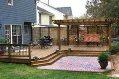 Innovative Backyard Deck Ideas Ground Level How To Build A Wood