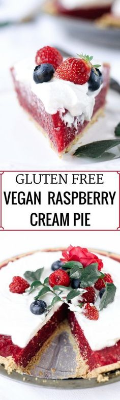 Fun, pretty, and delicious! This gluten free and vegan pie is made with a delicious graham cracker crust. Filled with fresh raspberry filling, and topped…