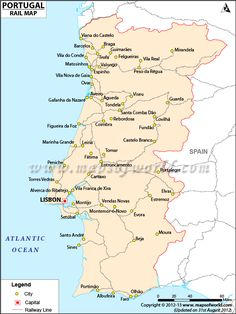 map of portugal with cities - Google Search | Portugal ...