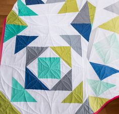 moda color theory fade away quilt white