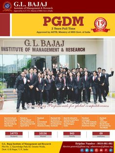 #‎GLBIMR‬ Rated as one of the Top Leading Institutes We feel proud to share that #GLBIMR Greater Noida, under the dynamic leadership of Mr Pankaj Aggarwal, Vice Chairman and strategic stewardship of Dr. Urvashi Makkar, Director General, has been ranked as one of the Top Leading Institutes for Management in India for Excellence in Education by CSR B-School Survey March 2016. It has also been conferred the Award for the Best B school for Industry Interface (North India) by Dialogue India…