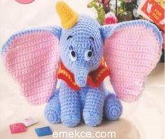 Amigurumi Oyuncak Uçan Fil Dumbo Yapımı