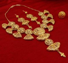 Gold plated #Necklace Earring Set !!!