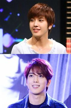 YH~♡ aw he looks so cute in the top pic