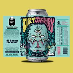 Heavy Seas Announces First Taproom Exclusive Can Release for Dry January Hazy IPA Beverage Packaging, Coffee Packaging, Chocolate Packaging, Bottle Packaging, Food Packaging, Craft Beer Labels, Wine Labels, Brewery Design, Beer Label Design